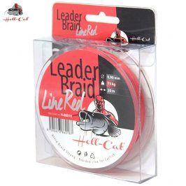 Hell-Cat Návazcová šňůra Leader Braid Line Red 20m