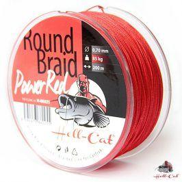 Hell-Cat Splétaná šňůra Round Braid Power Red 200m