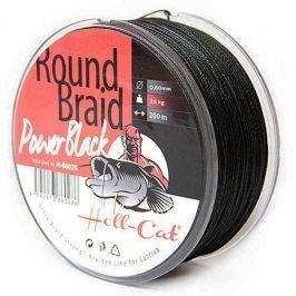 Hell-Cat Splétaná šňůra Round Braid Power Black 200m