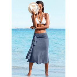 LASCANA Plážové šaty Lascana kouřově modrá 34