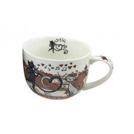 Trade Concept Velký porcelánový hrnek Kočky ve městě Kočky ve městě 500 ml