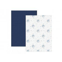 Trade Concept Sada 2 modrých utěrek Elegant Elegantní modrá 50x70 cm