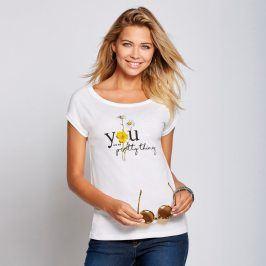 Venca Tričko s potiskem a krátkými rukávy bílá XL