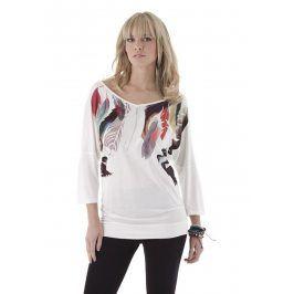 ANISTON Tričko s 3/4 rukávy, Aniston bílá-růžová-zelená-potisk 46