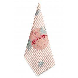 Trade Concept Utěrka Plameňák růžová/potisk 50x70 cm