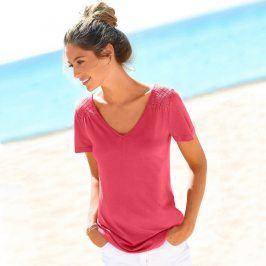 Blancheporte Jednobarevné tričko s výstřihem do