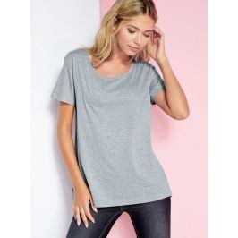 Venca Asymetrické tričko s krátkými rukávy šedá S