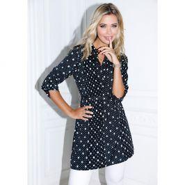 Venca Tunikové šaty s potiskem puntíků puntíky S