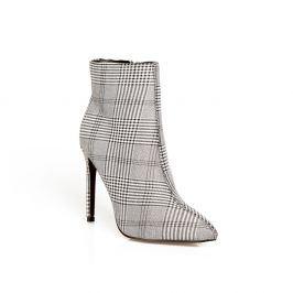 Venca Kotníkové boty na podpatku, motiv kostky černá 35