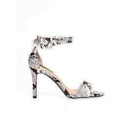 Venca Páskové boty na podpatku, motiv hadí kůže šedá 36