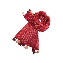 Venca Šátek se střapci, etno design červená