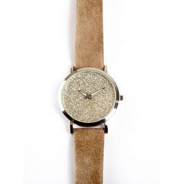 Venca Třpytivé hodinky béžová