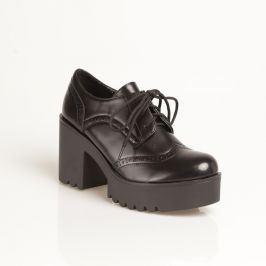 Venca Oxford boty na platformě černá 36