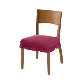 Venca Potah na sedák židle s volánky bordó
