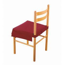 Venca Potah na sedák židle se širokým lemem bordó