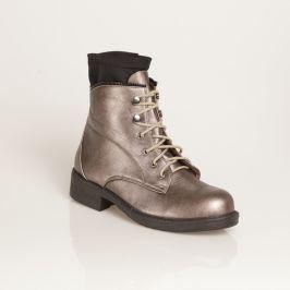 Venca Nízké metalické boty na zavázání metalizovaná 36