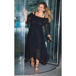 Venca Šaty s krajkou černá XL