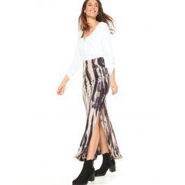 Venca Dlouhá sukně v designu batiky písková S