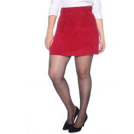 Venca Manšestrová sukně s kapsami granátová 42