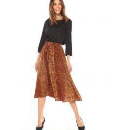 Venca Midi sukně s leopardím vzorem potisk S