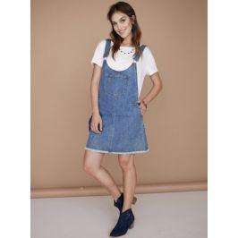 Venca Džínové šaty s laclem středně modrá S
