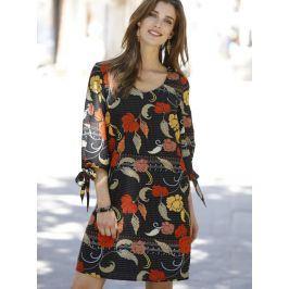 Venca Tunikové šaty se 3/4 rukávy černá S