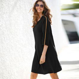Blancheporte Šaty s kontrastními pruhy černá 38