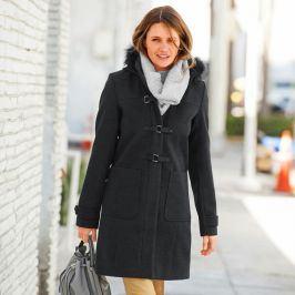 Blancheporte Kabát duffle-coat s kapucí antracitová 36