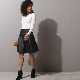 Blancheporte Krátká sukně, vzhled kůže (1) černá 36