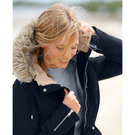 Blancheporte Parka s kapucí a hřejivou podšívkou černá 36