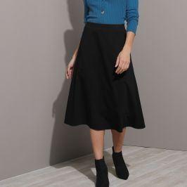 Blancheporte Midi sukně do A, žerzej černá 34/36