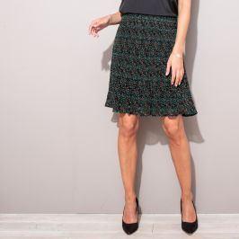 Blancheporte Voálová plisovaná sukně s potiskem černá/bronzová 38