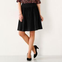 Blancheporte Jednobarevná plisovaná sukně černá 38