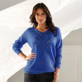 Originální pulovr s výstřihem do
