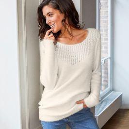 Blancheporte Jemný ažurový pulovr bílá 52