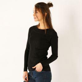 Blancheporte Jednobarevný žebrovaný pulovr černá 34/36