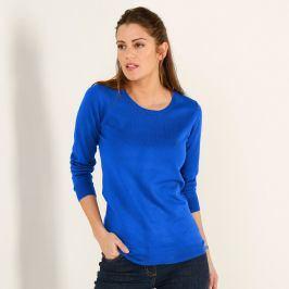 Blancheporte Jednobarevný pulovr s kulatým výstřihem tmavě modrá 34/36