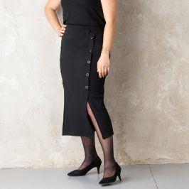 Blancheporte Polodlouhá sukně s knoflíky černá 42/44