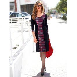 Blancheporte Šaty s potiskem, v zeštíhlujícím střihu černá/bílá/červená 38