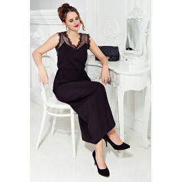 Venca Dlouhé šaty bez rukávů černá S