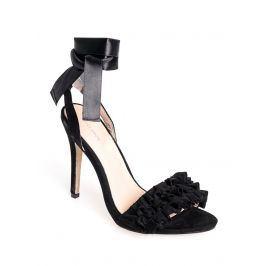 Venca Páskové boty na podpatku, se zavázáním černá 36