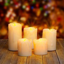 Sada pěti LED svíček - vytořte si vánoční atmosféru zcela bezpečně!