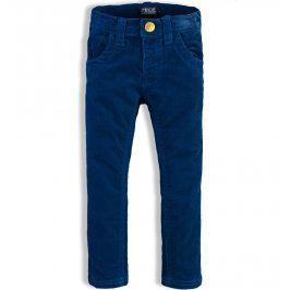 Kojenecké manžestrové kalhoty MINOTI KITTY modré Velikost: 80-86