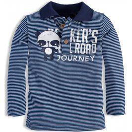 Dětské triko s límečkem DIRKJE RAIL ROAD modré Velikost: 80