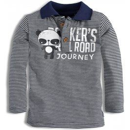 Dětské triko s límečkem DIRKJE RAIL ROAD bílé Velikost: 80