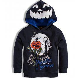 Chlapecká mikina KNOT SO BAD HALLOWEEN tmavě modrá Velikost: 92