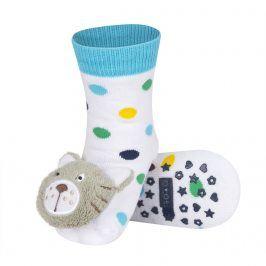 Ponožky s chrastítkem SOXO TYGR bílé Velikost: 19-21