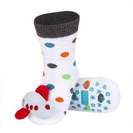 Ponožky s chrastítkem SOXO LETADLO bílé Velikost: 19-21