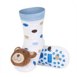 Ponožky s chrastítkem SOXO MÉĎA bílé Velikost: 19-21