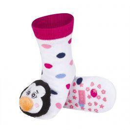 Ponožky s chrastítkem SOXO TUČŇÁK bílé Velikost: 19-21